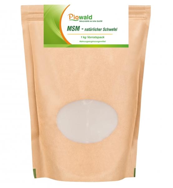 MSM natürlicher Schwefel - 1 kg Pulver